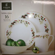 Gibson Holiday Classic 16 Piece Dinnerware set (New in Box)