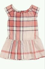 NWT BURBERRY GIRLS Nova CHECK Pink DRESS TOP Size 10 8 $195