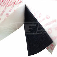 20mm 25mm 50mm SELF ADHESIVE STICKY BACKED HOOK AND LOOP VELCRO®, BLACK OR WHITE
