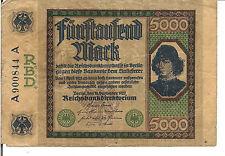 GERMANY , 5000 MARK,  1922