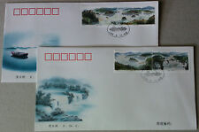 1998-17 China Jingpo Lake FDC 4v Stamps on 2 covers
