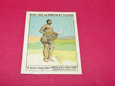 RARE CHROMO CHOCOLAT PUPIER ALBUM AFRIQUE 1938 AUSTRALE ANGLAISE GUERRIER ZOULOU