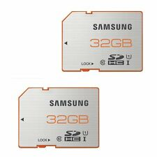 2x Samsung 32GB Plus 70MB/s SDHC MEMORY CARD CLASS 10 UHS-I SD FOR CAMERA