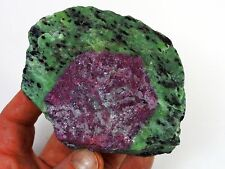 """A GRADE""  RUBY in ZOISITE Carving Rough Ruby Crystal Specimen from Tanzania 4"