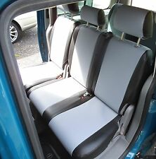 TO FIT A VW CADDY MAXI LIFE CAR SEAT COVERS 2016 SILVER GREY / BLK LEATHERETTE