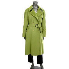 14965 auth HERMES greass green polyester & nylon Trench Coat Jacket 40 M