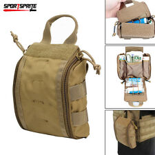 1000D Molle Tactical First Aid Kid Pouch Utility Medical Accessory Bag Case Tan