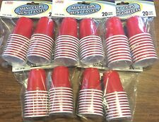 "100 Count Mini Red ""SOLO"" Type Cup Shot Glasses Red neck jello shots party 2oz"