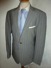 MENS HUGO BOSS PASOLINI GREY SUPER 140 WOOL SUIT JACKET 38 R WAIST 34 LEG 32.5