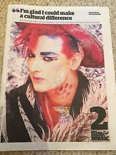 (UK) THE GUARDIAN (G2) BOY GEORGE CULTURE CLUB PHOTO COVER INTERVIEW