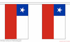 CHILE FLAG BUNTING 9 metres 30 flags SANTIAGO CONCEPCION Chilean SOUTH AMERICA