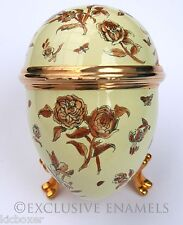 Bilston & Battersea Halcyon Days Enamels Flowers & Insects Enamel Egg