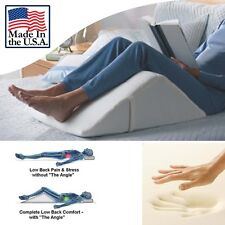 Bed Wedge Pillow Memory Foam REDUCE BACK PAIN IMMEDIATELY - Made in USA