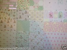 16 SHEET TASTER 6 x 6 FIRST EDITION IT'S A GIRL BABY CARD MAKING BACKING PAPER