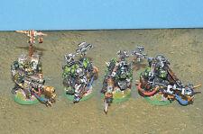 Space Orks 4 Burna Boyz pintado warhammer 40k (8609)