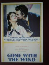POSTCARD  POSTER FOR THE FILM 'GONE WITH THE WIND'  GABLE & LEIGH