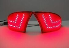 2x Lexus IS250 IS350 2014+ IS Red Lens Bumper Reflector LED Signal Brake Light