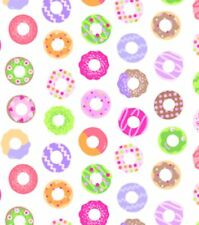 Donuts Sweet Things Fabric By Yard Cotton White Lakehouse Dry Goods desserts