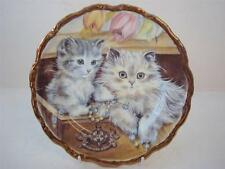 STAFFORDSHIRE POTTERY PLAYFUL KITTENS SMOKEY AND POLLY PLATE