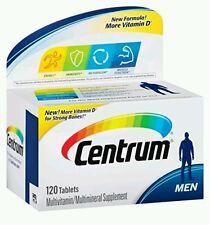 Centrum Men MultiVitamin Multimineral Supplement 120 Tablets  No box