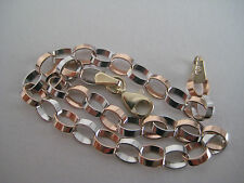9ct rose & white gold OVAL linked bracelet NEW ARRIVAL GIVEAWAY PRICE!