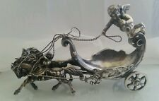 German Hanau Silver Salt Celar with Putto Cherub Rolling Chariot and Horses