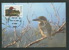 MICRONESIA MK 1990 WWF EISVOGEL KINGFISHER CARTE MAXIMUM CARD MC CM d8480