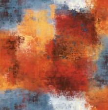 Wallpaper Designer Blue Orange Red Yellow Cream Modern Faux