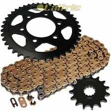 Golden O-Ring Drive Chain & Golden Sprocket Kit Fits KAWASAKI Z1000 ZR1000 10-14
