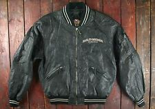 VINTAGE Moto Harley Davidson Screamin Eagle Baseball Bomber medio