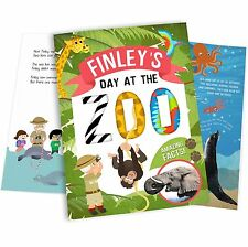 Personalised My Day At The Zoo Softback Childrens Book Educational Gift Idea