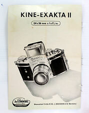 Original Kine-Exakta II Sales Brochure - 4 pages - printed 1950