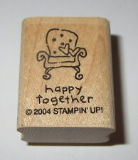 Happy Together Chair Rubber Stamp Stampin' Up! Retired Heart Pillows Mini #2