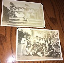 1921 old 4th of July Costumed Band Clowns Photos Blair County PA. Altoona Area?