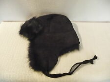 NEW J.CREW TOSCANA SHEARLING TRAPPER HAT, 34414, BLACK, S/M , $198