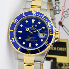 Rolex Submariner Yellow Gold Stainless Steel Blue 16613LB WATCH CHEST