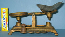 OLD CAST IRON TOY BALANCE SCALE W/SCOOP & WT * & NOW ON SALE *  CI 404