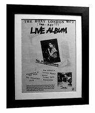 ROXY CLUB+LIVE+PUNK+WC2+POSTER+AD+FRAMED+RARE ORIGINAL 1977+FAST GLOBAL SHIP