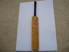 MINIATURE GRAY NICHOLLS 1971 WEST INDIES ORIGINAL LADIES SIGNIATURE CRICKET BAT