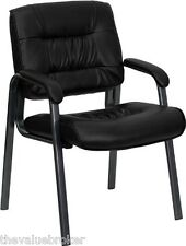 Office Chairs Waiting Room Black Leather Lobby Guest Reception Chair Padded NEW