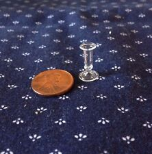 Tiny Clear Glass Bud Vase   - 1:12 scale Dollhouse Miniature