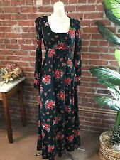 "VINTAGE MELENY ROAD FLOWERED MAXI - BUST 30"" NO SIZE : FREE SHIP"