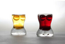 1 Pair Mini Crystal Lady Body Shaped Shot Glass Cup Whisky Vodka Wine Cup