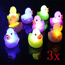 3Pcs Yellow Duck LED Lamp Light Flashing Color Changing Baby Cute Bathtime Toy