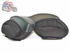 New FXDXT Dyna T-Sport Style Leather & Waterproof Ballistic Nylon Saddlebags Set