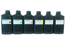 6x1000ml Premium Led UV Curable ink for Epson DX5 DX7 Print head printer