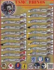 Furball Decals 1/48 USMC RHINOS F-4B F-4J PHANTOM II Fighters in Vietnam