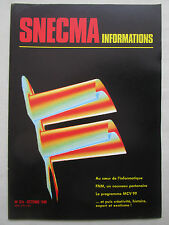 10/1989 SNECMA INFORMATIONS 316 FN HERSTAL MCV 99 ATSF PM PISTOLET GNOME RHONE