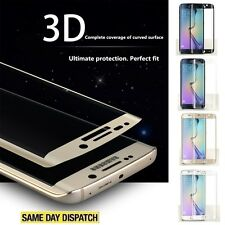 Clear Samsung Galaxy S6 Edge FULL CURVED 3D TEMPERED GLASS Protectors Film Cover