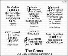 Our Daily Bread Designs Cling Stamp Set The Cross Bible Verses, Inspirational